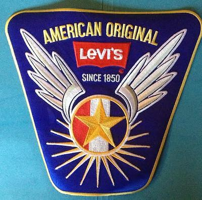 Rare Vintage 1980's Levi's Collectable Jean Jacket Large Back Patch Crest C