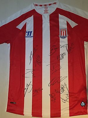 Stoke City FC Hand Signed Autograph Football Shirt 2016/17 - X13 BNWT Proof COA