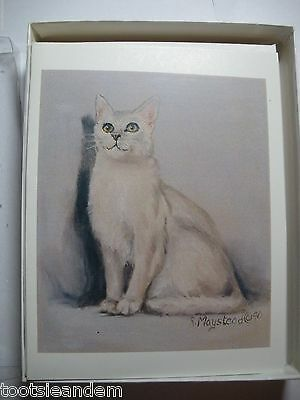 White Cat Notecards Best Friends by Ruth Maystead
