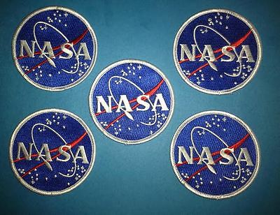 5 Lot New Old Stock NASA Logo Hat Jacket Flight Suit Collectors Patches Crests