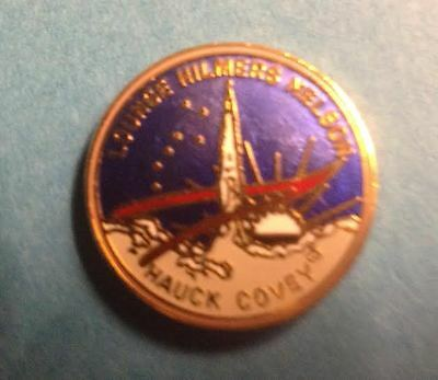 RARE NASA Collectable Space Shuttel STS 26 Mission Lapel Hat Pin Hauck Covey
