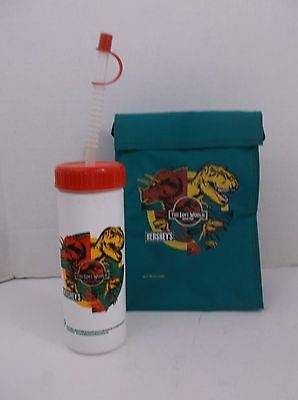 Jurassic Park 1997 Lunch Tote and Drink Bottle Hershey's Mail in offer