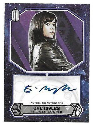 Doctor Who Topps 2015 Autograph Card Eve Myles as Gwen Cooper Auto