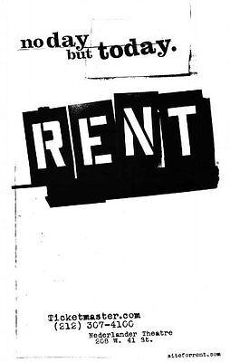 Rent Poster Broadway Theater Play 11x17 MasterPoster Print, 11x17