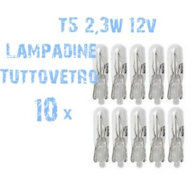 N° 10 Lampadine t5 Tuttovetro Ricambi DEPO FK Cruscotto 2,3W 12V HIGH POWER 2A5