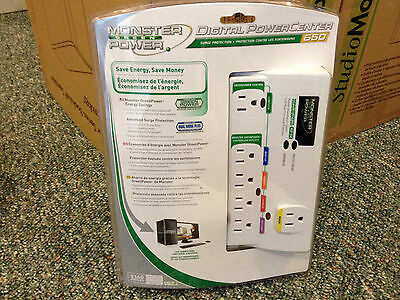 MONSTER POWER MDP 650 EFS Power Saving power bar for computer or home theater