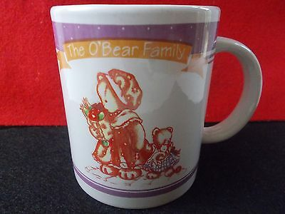 The O'brian family Anco 1997 coffee cup mug bear