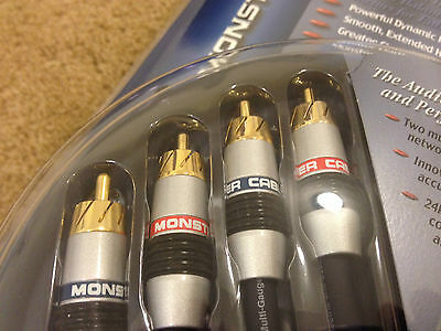 Monster Cable Interlink 400MKII 2 Meter Stereo audio patch cord 6 foot RCA cable