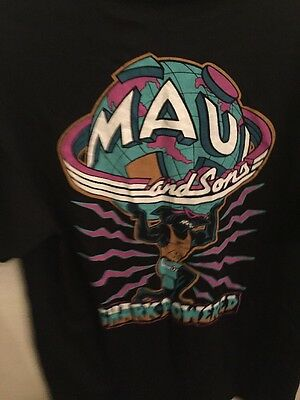 Vtg 1990's Maui And Sons Shark Powered T Shirts Size Xl