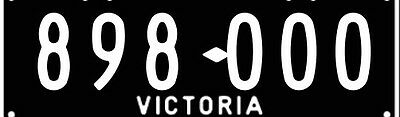Vic Number Plates 898 000