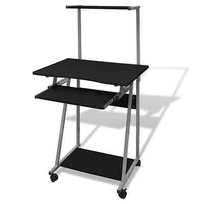 S# Black Office Computer Desk Table Keyboard Tray Shelf Mobile Student Study Hom