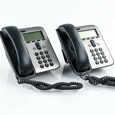 Lot of 5 Cisco CP-7912G Unified VoIP Office Business Phone 7912 Series w/ Stands