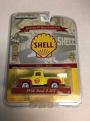 Greenlight * 1956 Ford F-100 Yellow/Red * Shell Oil * Anniversary Series
