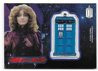 Doctor Who Topps 2015 TARDIS Patch Card Nyssa Purple Parallel 09/99