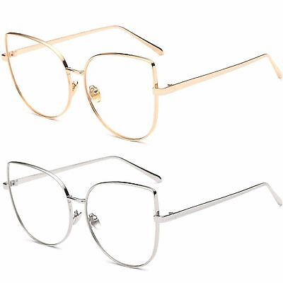 Womens Large Oversized Metal Frame Butterfly Shape High Quality Fashion Glasses