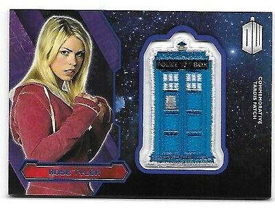 Doctor Who Topps 2015 TARDIS Patch Card Rose Tyler Purple Parallel 75/99