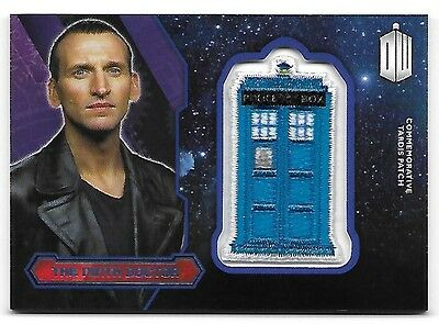 Doctor Who Topps 2015 TARDIS Patch Card The Ninth Doctor Purple Parallel 30/99
