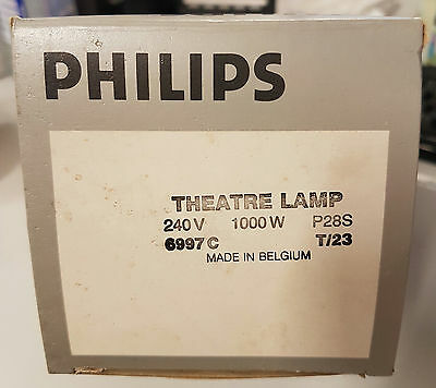 Philips Theatre Lamp 240v 1000w 6997c p28s base