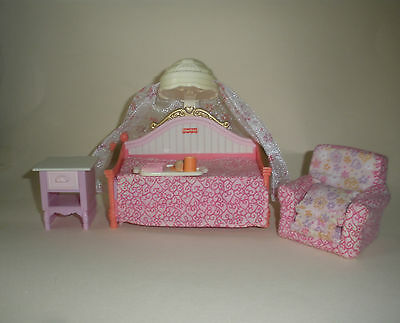 Fisher Price Loving Family Dollhouse Furniture Girls Daybed Bedroom Set