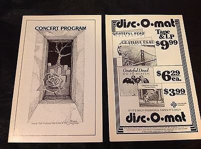 Grateful Dead Program Madison Square Garden 1982 Mint