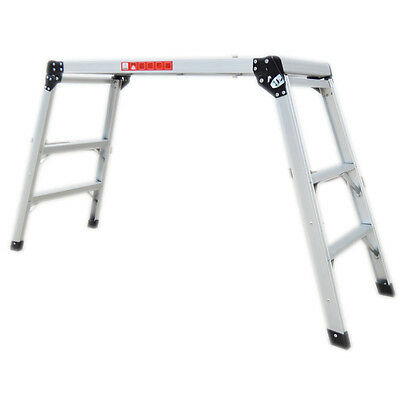 Aluminum Platform Drywall Step Up Folding Work Bench Stool Ladder Step Feet New