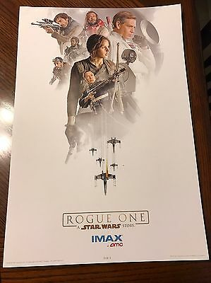 Star Wars Rouge One AMC Stubs Promo IMAX Poster (1 Of 3) & (3 Of 3)