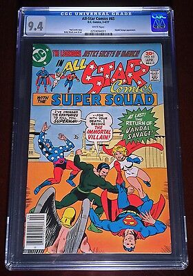 All-Star Comics #65 - Superman v. Vandal Savage - CGC 9.4 (White Pages) - POP 10