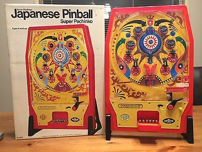 1970's Japanese Pinball Super Pachinko game with BOX by Epoch Playthings