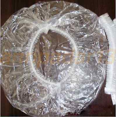 200X Disposable One-off Hotel Home Shower Bathing Clear Hair Elastic Caps Hat