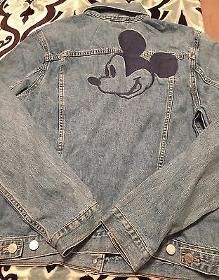 NEW 2016 Gap Disney Mickey Mouse Embroidered Denim Jacket  X SMALL XS SOLD OUT