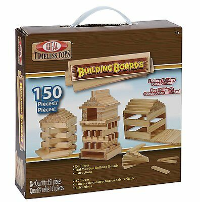Ideal Building Boards 150 Piece Classic Wood Construction Set