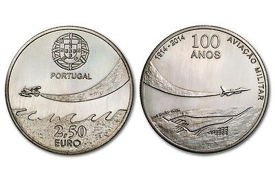 2,5€ Portugal 2014 - 100 ANS AVIATION MILITAIRE UNC