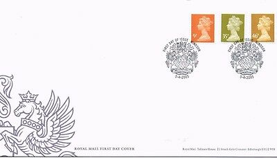 2005 Royal Mail FDC - New Definitive FDC (3 stamps) - issued 5 April 2005