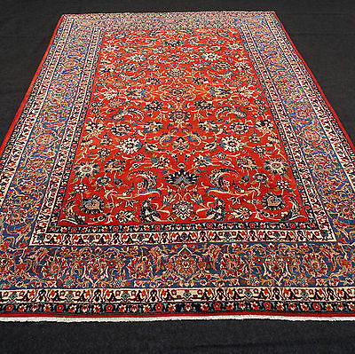 Alter Orient Teppich 330 x 225 cm Rot Floral Perserteppich Old Carpet Rug Tapis