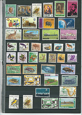 Malawi Stamp Collection.