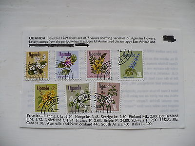 7 Stamps from Uganda