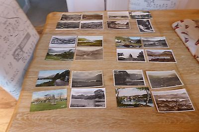 Job Lot / Collection Of 24 Vintage Postcards Of The English Lake District