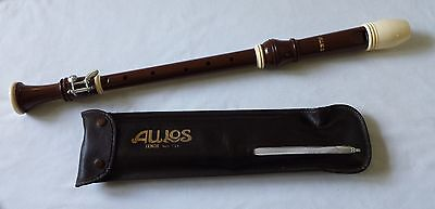 Aulos Tenor Recorder No. 111 In Its Original Pouch - 630Mm Long - Made In Japan