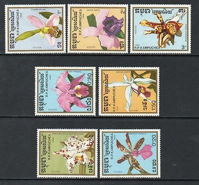 Cambodia MNH 1988 Orchids