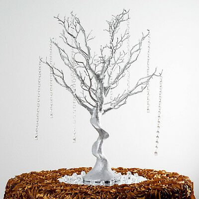 30 silver glittered manzanita tree with garlands wedding party rh picclick com