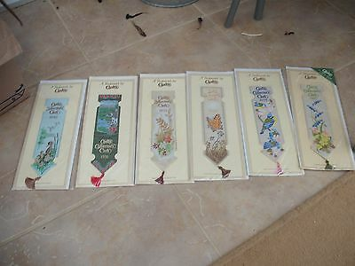 Cashs Woven Bookmark in Original Packaging lot of 6 collectors club 1990 -  1995