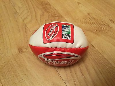 Limited Edition Coca Cola Mini Hacky Sack Bean Rugby World Cup Ball 1999