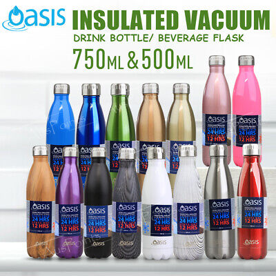 NEW OASIS DRINK BOTTLE Beverage Flasks Double Wall Insulated Thermal 750ml 500