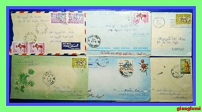 South Vietnam Cover Lot of 6 # 1