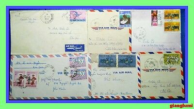 South Vietnam Cover Lot of 6 # 6