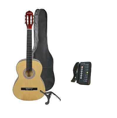 Rocket XF Series 3/4 Classical Spanish Guitar with Digital Tuner