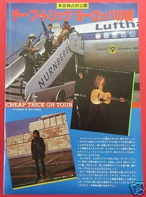 Cheap Trick Robin Zander Tom Petersson 1980 Clipping Japan Magazine Rs 6A 3Page