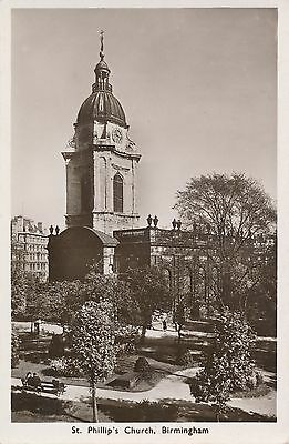 POSTCARD    BIRMINGHAM  St  Phillips  Church