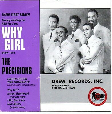 """The Precisions 7"""" Ep Northern Soul 45 Free Uk P&p"""