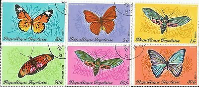 Togo Set Of 6 Colorful Butterfies